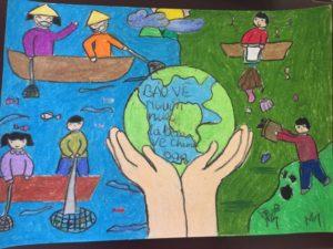 5 ý tưởng độc đáo về vẽ tranh đề tài bảo vệ môi trường