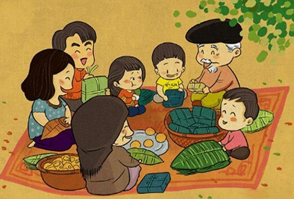 vẽ tranh đề tài gia đình hạnh phúc