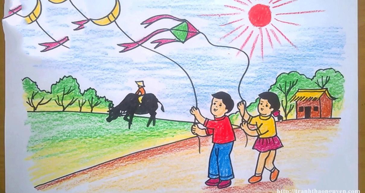 vẽ tranh phong cảnh mùa hè