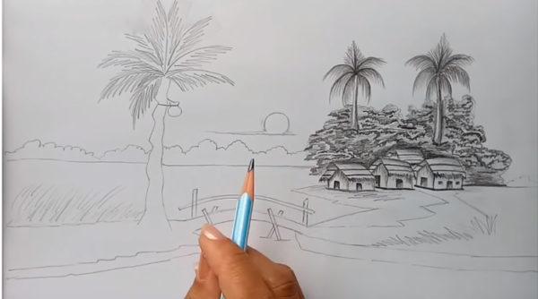 Hướng dẫn cách vẽ tranh phong cảnh mùa hè