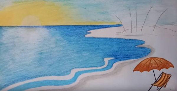 vẽ tranh phong cảnh biển